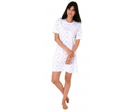 Normann ženska spalna srajčka sivo/bela
