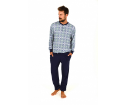 Normann moška pižama modro-zelena