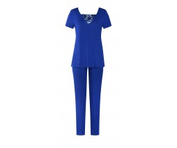Triumph ženska pižama viskozna modra
